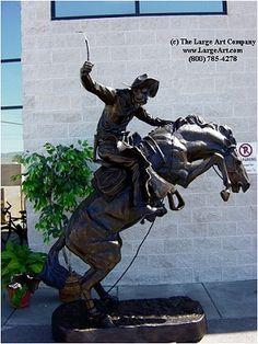 Frederic Remington Statue of Bronco Buster Life Size Bronze Sculpture, Sculpture Art, Famous Sculptures, Frederic Remington, Life Size Statues, Statues For Sale, Unique Gifts For Him, Large Art, Public Art