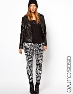 ASOS CURVE Leggings In Monochrome! Love These!