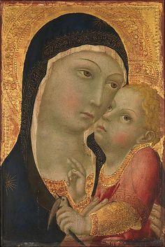 Sano di Pietro - Madonna e Bambino - circa 1450 - tempera su tavola, fondo oro - The Metropolitan Museum of Art, New York