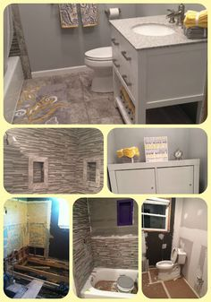 RUNNING WITH OLLIE: Small Bathroom remodel