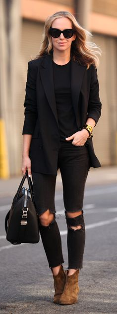 Camel Suede Booties Streetstyle by Brooklyn Blonde
