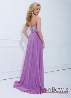Tony Bowls 2014 Lilac Pink Yellow Sweetheart Strapless A-Line Prom Dress 114545 | Promgirl.net