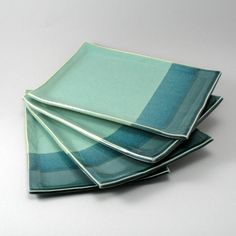 Ceramic Plates-Pearl Green Glaze-Peacock Gloss Glaze-Stoneware Trays-Tableware-Pottery Dinnerware-Plate Set-Teal-Turquoise by cherylwolff on Etsy https://www.etsy.com/listing/124896214/ceramic-plates-pearl-green-glaze-peacock
