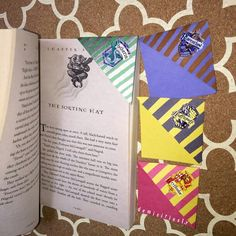 Hogwart house bookmarks