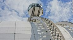 Unbelievable elevators. The Skyview elevator ride along the Ericsson Globe in Stockholm, Sweden.
