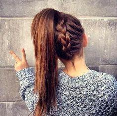 High Braided Ponytail Hairstyles