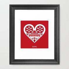 Heartbeat (Valentine's Day) Framed Art Print