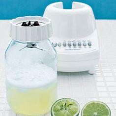 Use a glass Mason jar as a blender jar