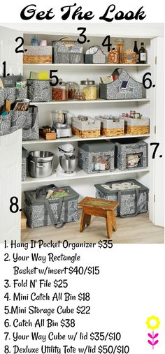 Check out this dream pantry! We have plenty of storage items to help get you organized, with coordinating patterns and colors! Thirty One Organization, Linen Closet Organization, Kitchen Organization, Organization Hacks, Organizing Ideas, Thirty One Totes, Thirty One Party, Thirty One Gifts, Thirty One Business