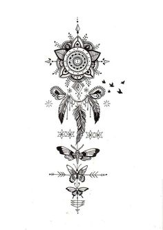Ultra-book de amelieferrero Portfolio : Illustrations personnelles : recherche tatouage perso