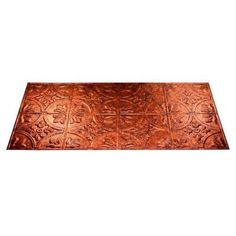 Fasade Traditional 2 - 2 ft. x 4 ft. Glue-up Ceiling Tile in Moonstone Copper - G51-18 at The Home Depot