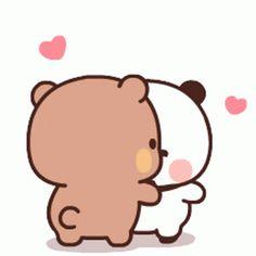 Cute Love Gif, Cute Love Pictures, Cute Cat Gif, Cute Bunny Cartoon, Cute Cartoon Images, Cute Couple Comics, Cute Couple Cartoon, Mocha, Cute Bear Drawings