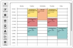 Free online schedule maker - Very easy to use; could be used for both class and personal scheduling
