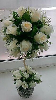 Purple Flower Arrangements, Contemporary Flower Arrangements, Floral Centerpieces, Home Flowers, Pretty Flowers, Paper Flowers, Purple Flowers, Flower Decorations, Wedding Decorations