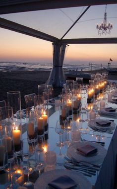 Sunset, candlelight dinner on the beach...ahhh.