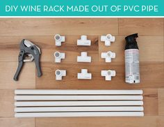 How To: Make A Wine Rack Out Of Pvc Pipe