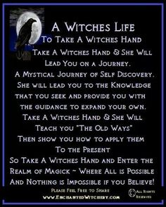 Magick Wicca Witch Witchcraft: A Life.