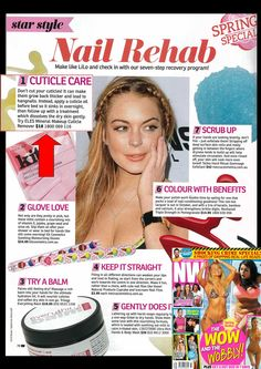"""The winter season is over and it's time to take off your mittens! But wait, do your nails a favor. Since it's spring, it's time do a nail makeover! NW Magazine Australia's Star Style ed recommends the ELES Cuticle Remover in the feature """"Nail Rehab!""""   http://www.elescosmetics.com/boutique/ELES-Cuticle-Remover.html  #ELES #ELESCosmetics #cosmetics #mineral #makeup #natural #beauty"""
