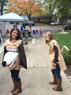 Once upon a time, when people spent $75 on a plastic, cheap-looking Halloween costume from Party City, matching costumes were considered corny, nerdy, and eyeroll worthy. Now, in the year 2016, when people spend a lot of time creating their own costume and even more time searching for them on Pinterest, matching costumes are considered cute, fun, and often really creative. This is true for both couples and costumes and best friend costumes.