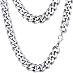 Silver Chain For Men, Chains For Men, Stainless Steel Jewelry, 316l Stainless Steel, Metal Solid, Men Necklace, Jewelries, Black Silver, Pendant