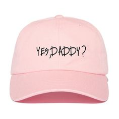 Yes,Daddy? Strap Back Hat ($25) ❤ liked on Polyvore featuring accessories, hats, cotton hats and strap hats