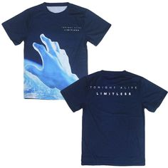 Tonight Alive Men's Limitless T-shirt Medium Blue -- Awesome products selected by Anna Churchill