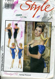 Vintage Style 1985 UNCUT Misses Evening Fitted by RomasMaison, $8.00