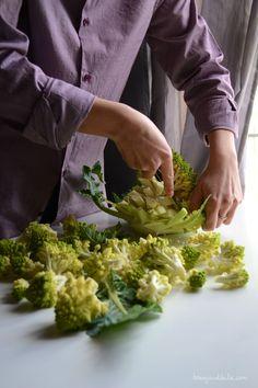 how to trim and cook roman cauliflower/ come pulire e cuocere il broccolo romanesco