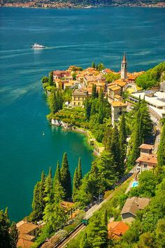 Lake Como in Varenna/Italy. by Cool Italy Vacation: 26 Places in Italy You Must to See Beautiful Places In The World, Places Around The World, Travel Around The World, Wonderful Places, Amazing Things, Beautiful Scenery, Amazing Places, Beautiful Pictures, Places To Travel