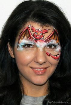 Dragon for the girls? Spider Face Painting, Dinosaur Face Painting, Monster Face Painting, Dragon Face Painting, Face Painting Images, Face Painting For Boys, Face Painting Tutorials, Face Painting Designs, Body Painting
