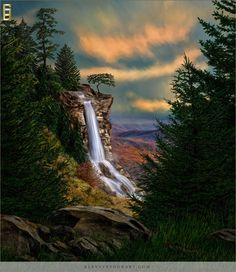 """Hidden Falls"" an image by Award Winning Photographer by Michelle Parsley, M."