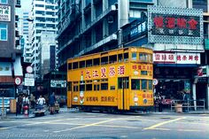 Hong Kong Tramways double-decker tramcar 119 in overall ad… | Flickr