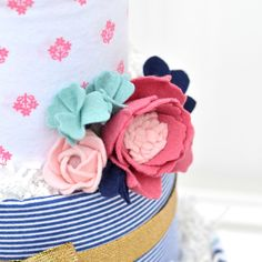 Felt Flower Peony Diaper Cake by Baby Blossom Company Cake Centerpieces, Cake Bouquet, Cute Baby Shower Gifts, Cupcake Gift, Gifts For My Wife, Cake Pictures, Floral Baby Shower, Felt Flowers, Flower Making