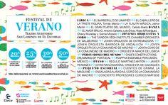Festival Verano El Escorial. Pincha la imagen para que compres tus entradas