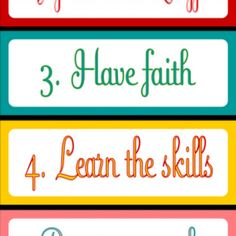 LDS Church–FREE Lesson Help Printable {Devleoping our Talents}