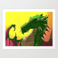 Awesome Dragon Art Print by mauricemurdock - $14.00
