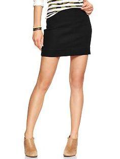 Zip-back tweed mini skirt loveeee