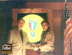 Steve's Sponsor and Steve Patterson at his Eagle Scout Bankquet for the Eagle Scouts of 1994.