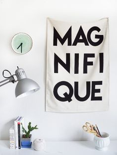 Printable Fabric Flag Word Art - Sugar & Cloth - Houston Blogger - DIY - Home Decor