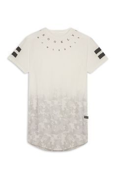 White T Shirt Design Ideas buy grayscale clothing at kuji shop this remnant t shirt for women features a screen printed photographic design Brooklyn Faded Camo T Shirt