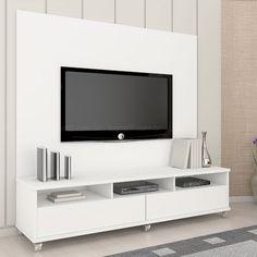 Rack Enquis com Painel para TV Evoqua em MDF 182 x 156,4 x 45 Branco - Urbe Móveis
