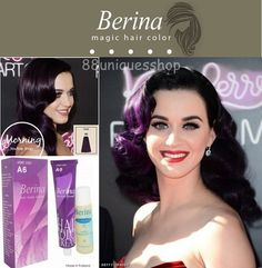 BERINA Violet Purple No.A6 Permanent Hair Dye Color Cream  - Unisex #Berina