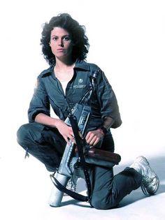 "Ellen Ripley from Ridley Scott's ""Alien"" - 1979 Alien 1979, Alien Film, Pet Sematary, Science Fiction, Star Trek, Fritz Lang, Movies And Series, Sigourney Weaver, Aliens Movie"