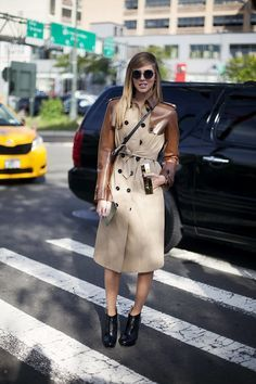 The Blonde Salad - trench coat + booties