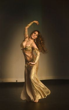 gold belly dancing costume