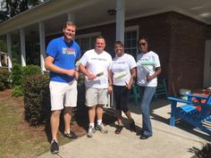 @tridentuw Young Professional volunteers painting the CYDC children's houses during a service project on May 30, 2015.