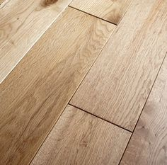 Natural oak brushed and oiled solid wood flooring