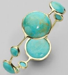 87. Turquoise & Coral Jewelry: Ippolita Turquoise Bangle