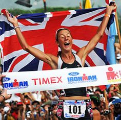 The best Iron Lady, ever! Chrissie Wellington, four-time world champion & world ironman distance record holder.