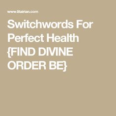 Switchwords to Attract Good Health. This switch word video is one of the best solutions to retrain your subconscious mind for the good and perfect health. Healing Codes, Switch Words, Practical Life, Magic Words, Subconscious Mind, Natural Cures, Spiritual Awakening, Reiki, Quotations